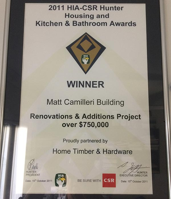 Our Building Awards